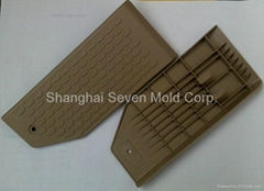Polypropylene moulding footrest of auto, plastic injection moulded part