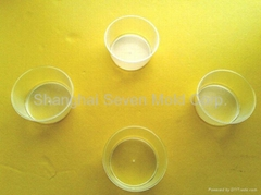 Transparent PP cup for hospital, plastic injection moulded part