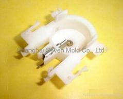 plastic injection molded product with insert