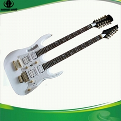 Double (two) Neck (head) Electric Guitar Musical Instruments