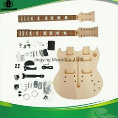 double necked SG style Electric guitar kits