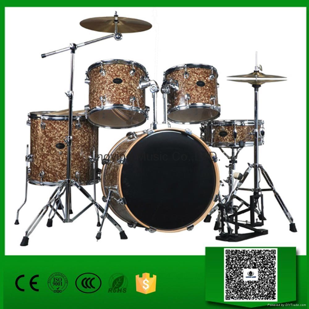 Normal standard 5 pcs cellulloid jazz drum set for sale for 12x10 floor register
