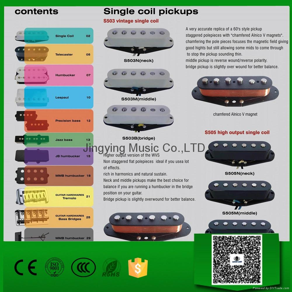 Guitar Pickups, Single Coil Pickups 1