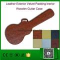 Leather Exterior Velvet Padding Inerior Wooden Guitar Case