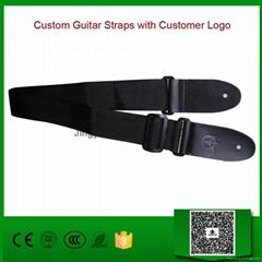 Custom Guitar Straps with Customer Logo