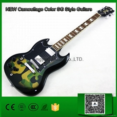 Very Beautiful Camouflage Color SG Electric Guitar