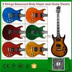 Spalted Maple Electric Guitar/Very Beautiful Custom Guitar/OEM Guitar
