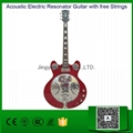 Acoustic Electric Resonator Guitar with free Strings