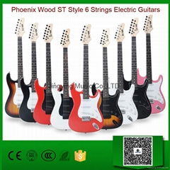 Wholesale Phoenix Wood ST Style 6 Strings Electric Guitars Factory
