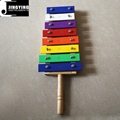 Children Percussion Instrument Colorful 8 Tone Aluminum Metallophone