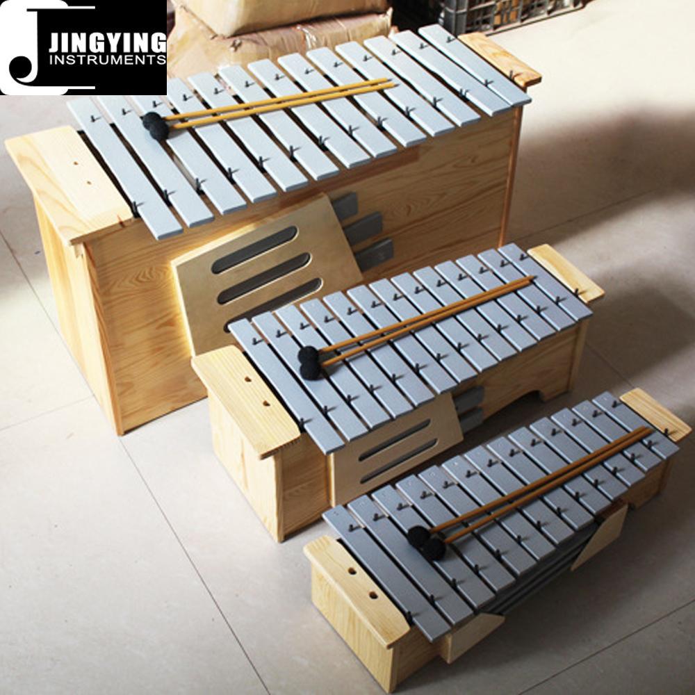 13 Tone Solid Wood Box Body Soprano&Alto&Bass Aluminum Metallophone 1