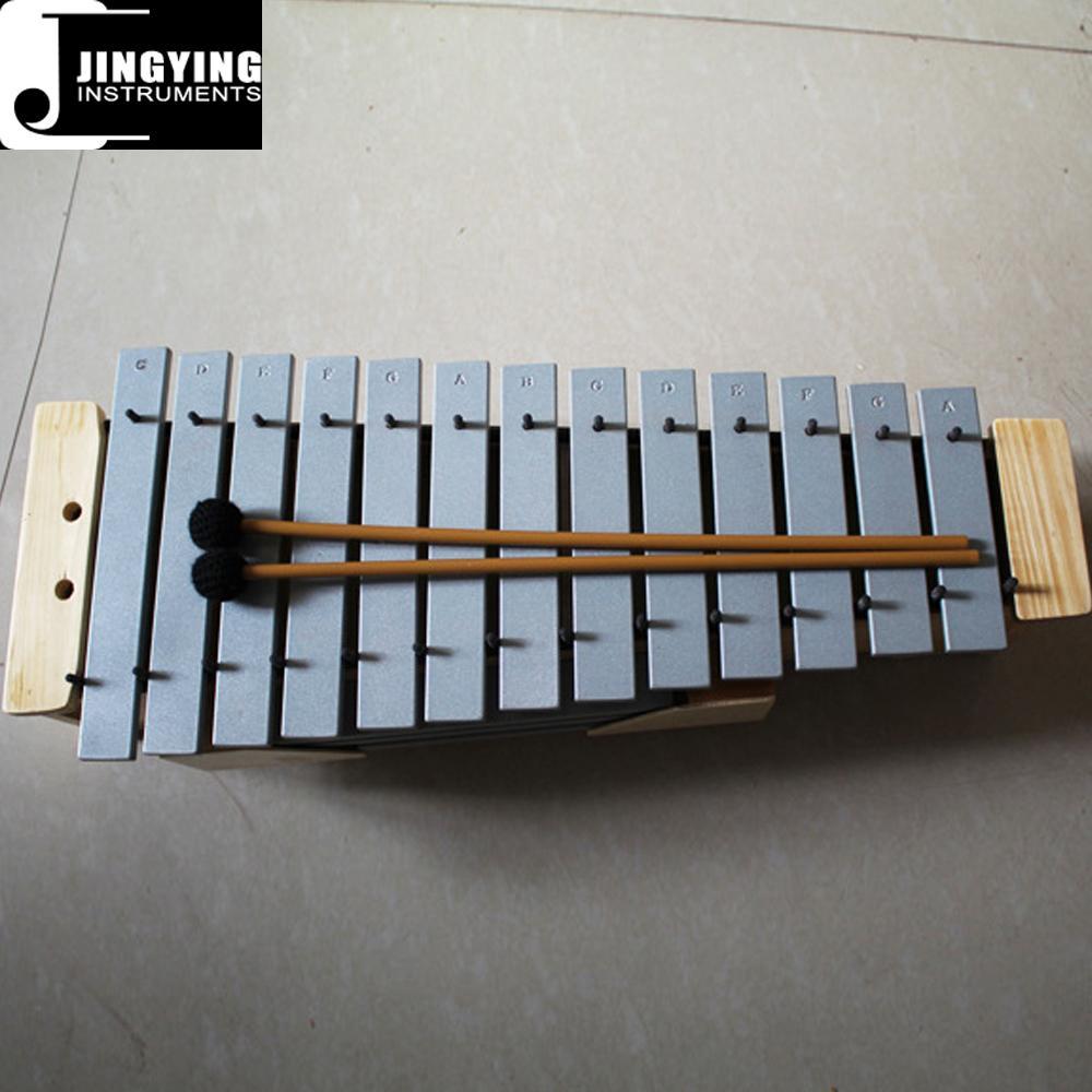 13 Tone Solid Wood Box Body Soprano&Alto&Bass Aluminum Metallophone 6