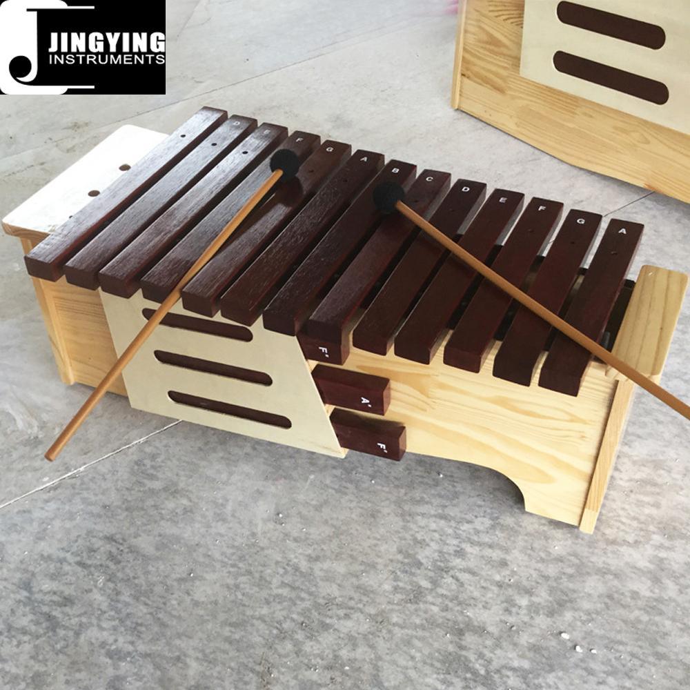 13 Tone Red Wood Box Body Soprano&Alto&Bass Xylophone 6