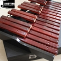 25 Tone Red Wood Xylophone with Case