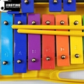 25 Tone Colorful Aluminum Metallophone with Case