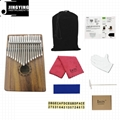 17 Tone Acacia Thumb Piano/Finger Piano/Carinba/Mbira with EQ 4
