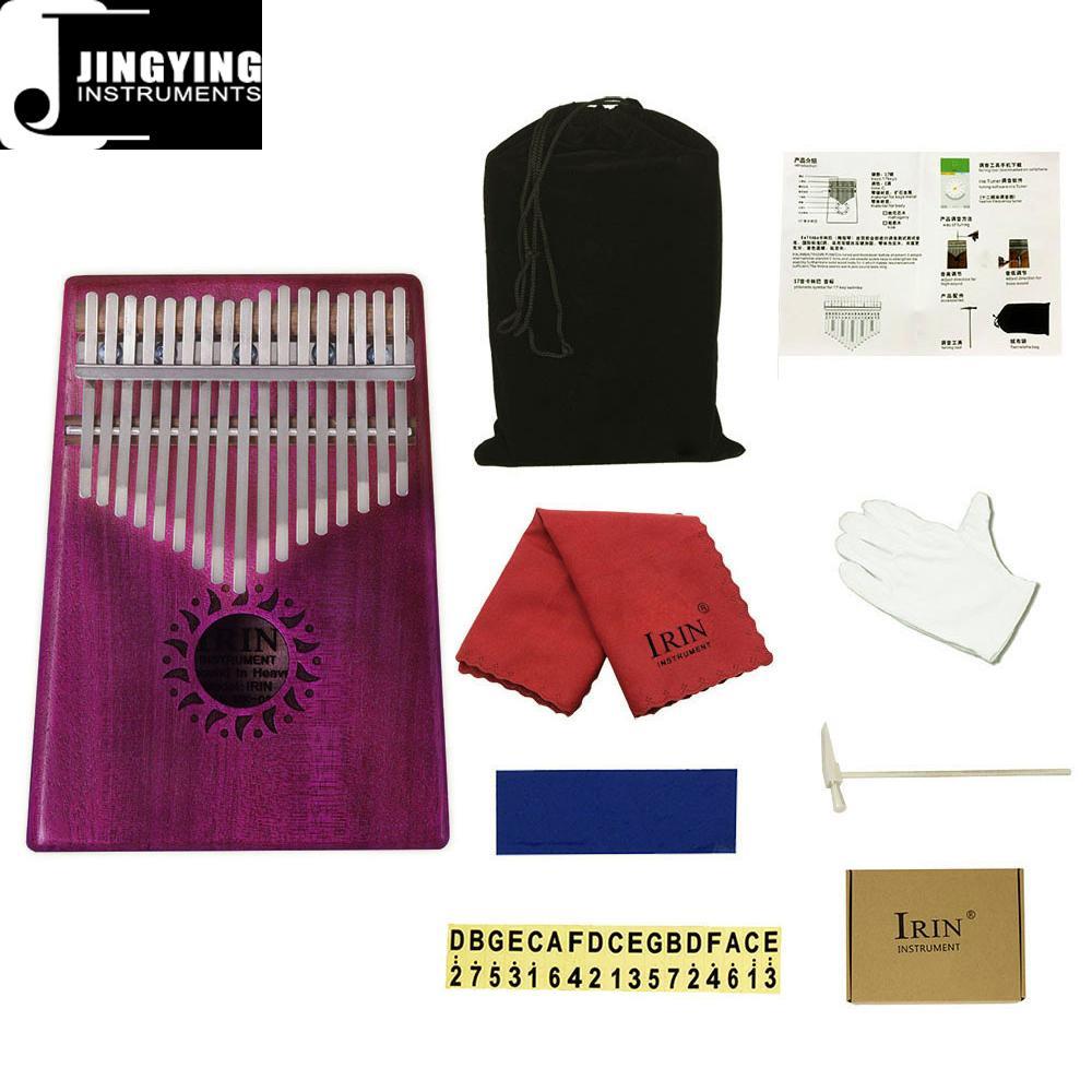 17 Tone Acacia Thumb Piano/Finger Piano/Carinba/Mbira with EQ 5