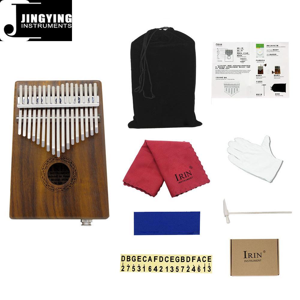 17 Tone Acacia Thumb Piano/Finger Piano/Carinba/Mbira with EQ 8
