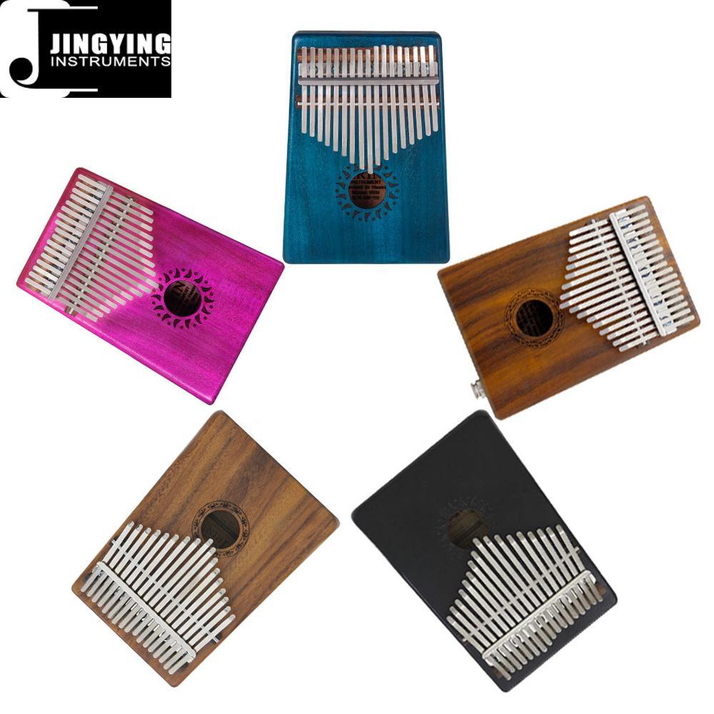 17 Tone Acacia Thumb Piano/Finger Piano/Carinba/Mbira with EQ 1