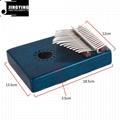 17 Tone Acacia Thumb Piano/Finger Piano/Carinba/Mbira with EQ 12