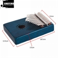 17 Tone Acacia Thumb Piano/Finger Piano/Carinba/Mbira with EQ