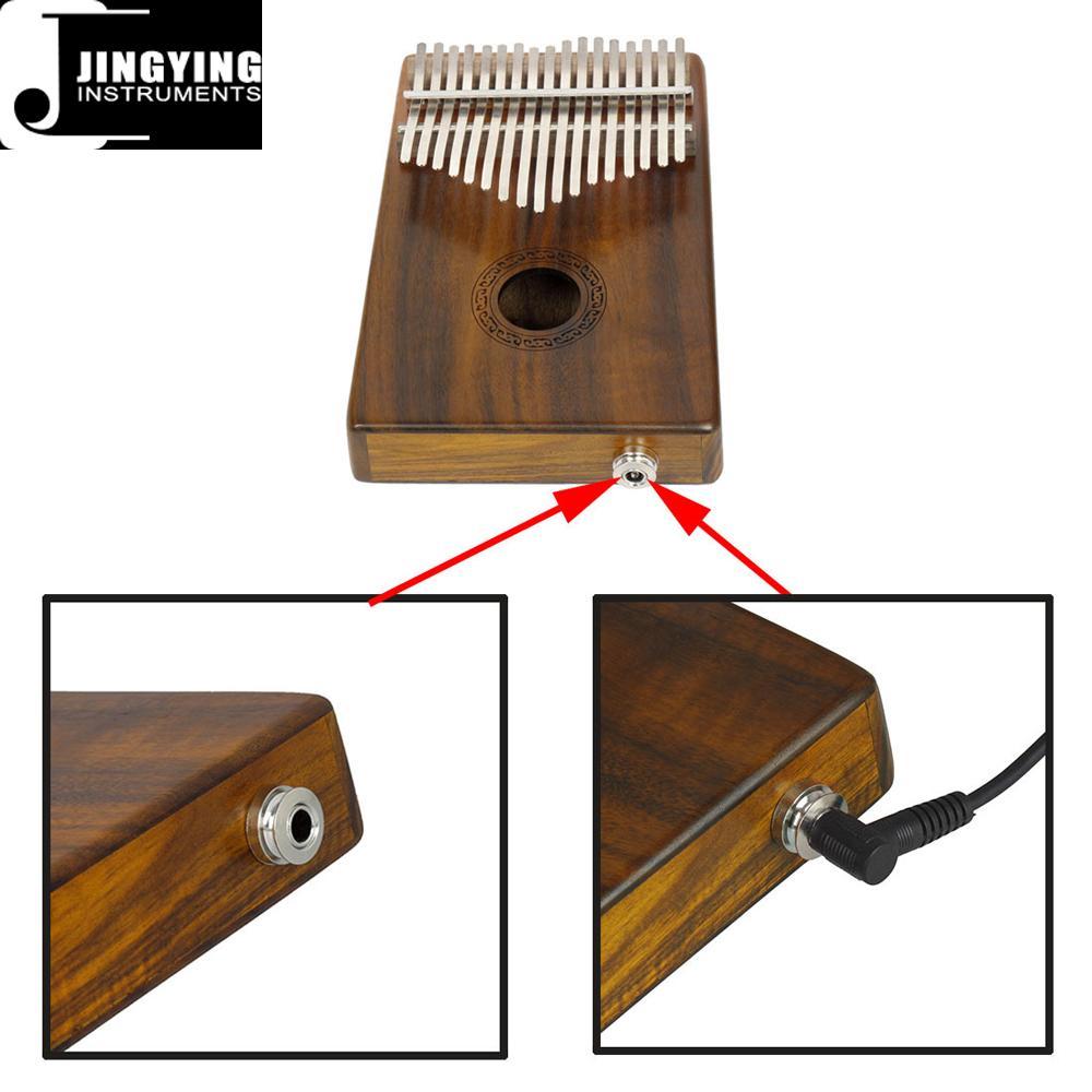 17 Tone Acacia Thumb Piano/Finger Piano/Carinba/Mbira with EQ 14