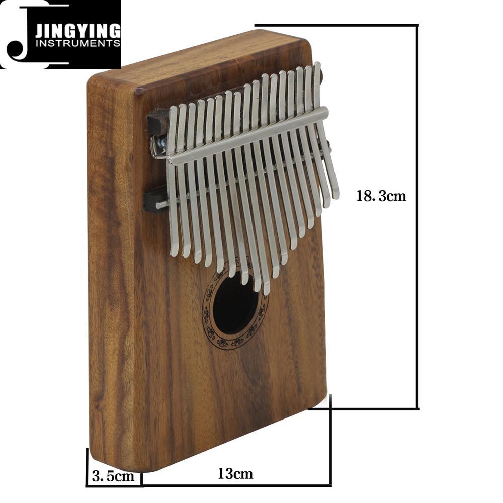 17 Tone Acacia Thumb Piano/Finger Piano/Carinba/Mbira with EQ 15