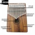17 Tone Acacia Thumb Piano/Finger Piano/Carinba/Mbira with EQ 17