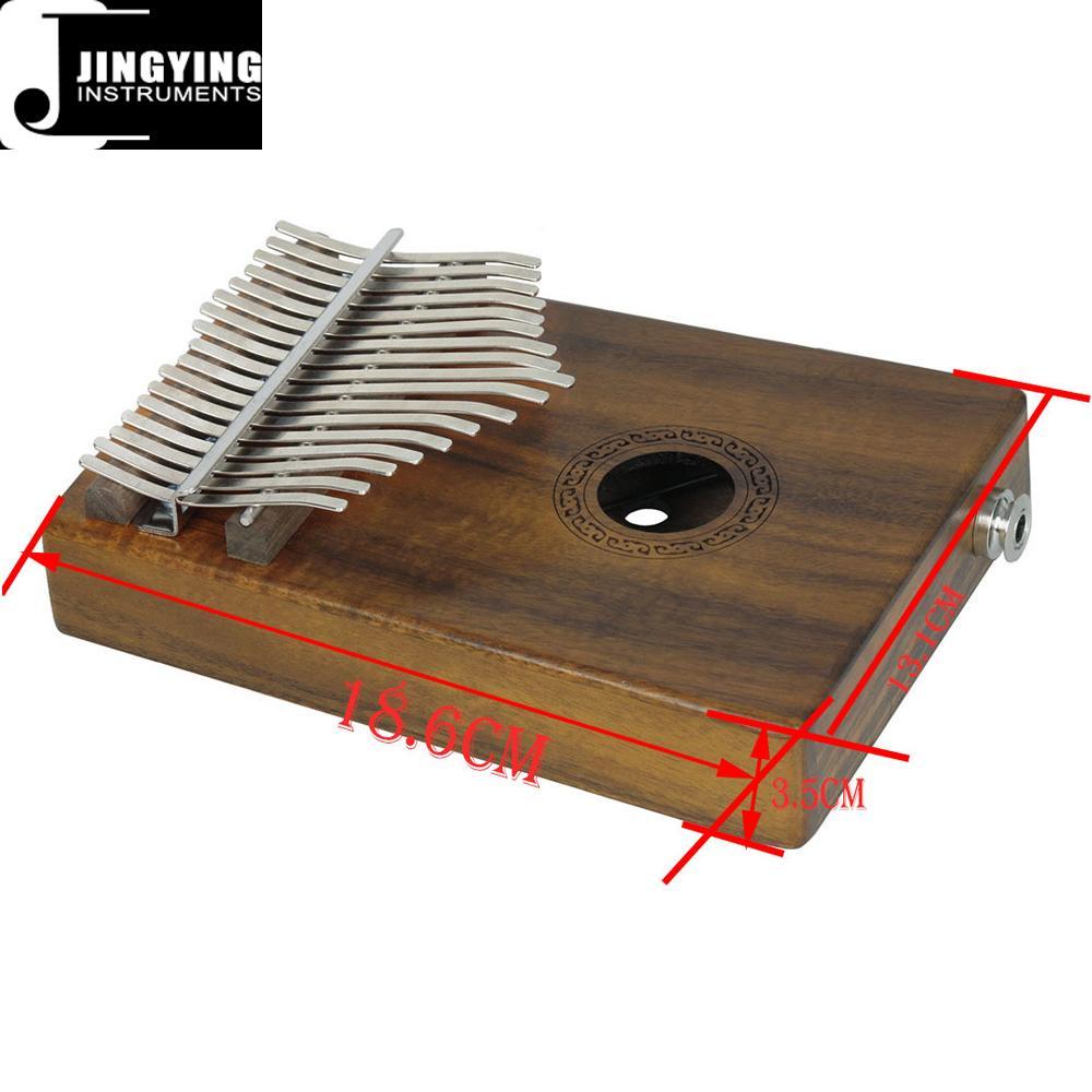 17 Tone Acacia Thumb Piano/Finger Piano/Carinba/Mbira with EQ 16