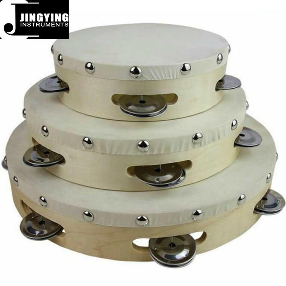 Wholesale 6&8&10 inch wood tambourine 1