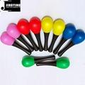 5 Colors Musical Toys Rhythm Plastic Egg Maracas 2