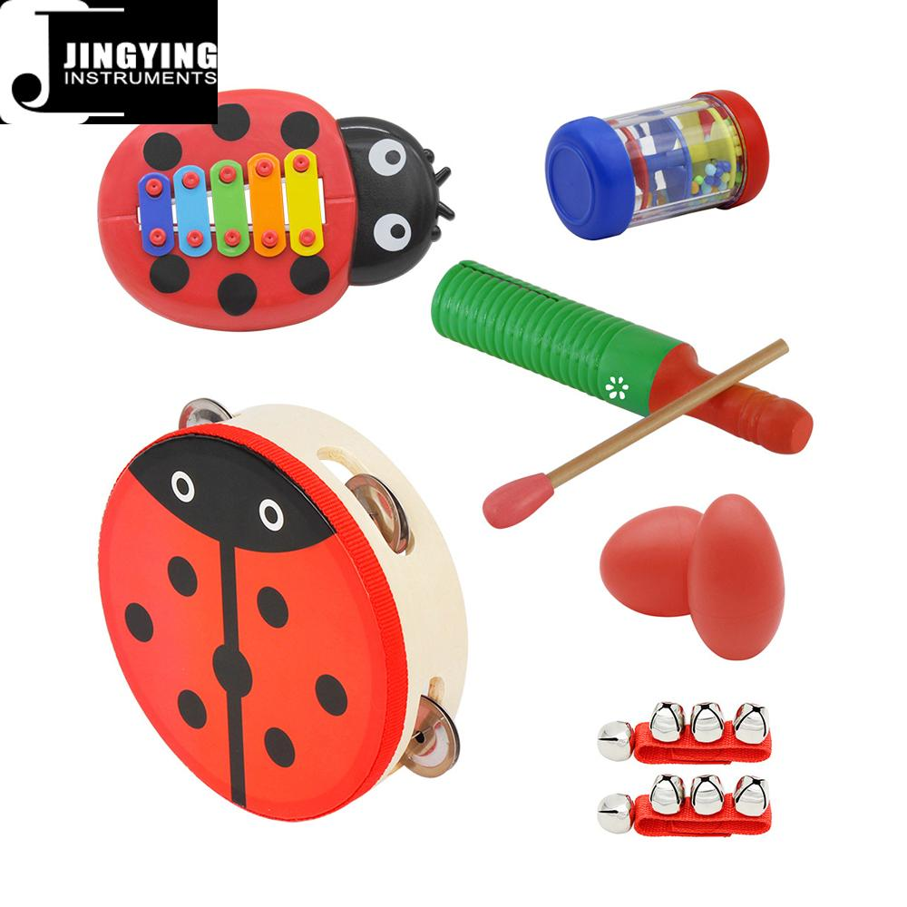 Percussion instrument toy rhythm band set for kids, Orff musical instrument set