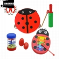 Percussion instrument toy rhythm band set for kids, Orff musical instrument set  2