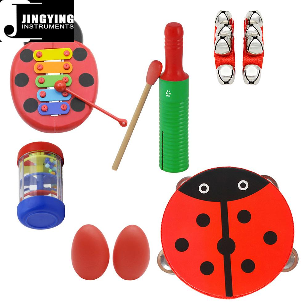 Percussion instrument toy rhythm band set for kids, Orff musical instrument set  4