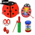 Percussion instrument toy rhythm band set for kids, Orff musical instrument set  8