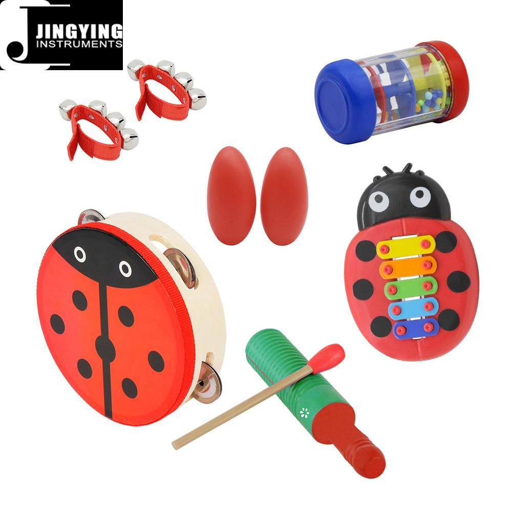 Percussion instrument toy rhythm band set for kids, Orff musical instrument set  10