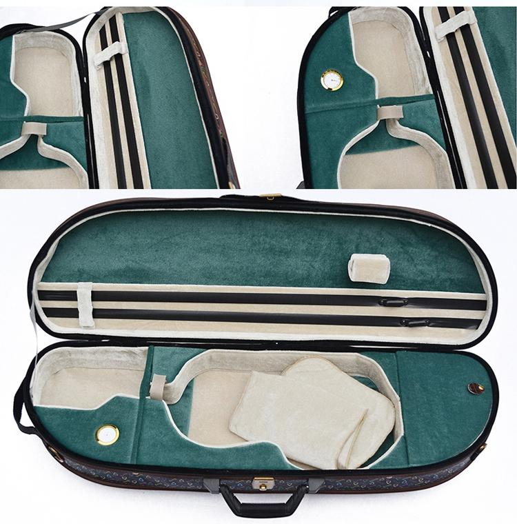 Waterproof Fabric Semi-round Violin Case with locking 8