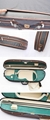 Waterproof Fabric Semi-round Violin Case with locking