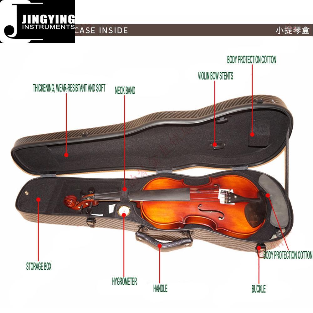 Hardshell Triangle Carbon Fiber 1/4 2/4 3/4 4/4 Violin Case 7