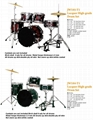 5 pcs Lacquer High-grade Drum Sets