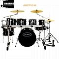 7pcs PVC Cover 9-ply Birch+Poplar Shell Drum Kits 2