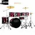 7pcs PVC Cover 9-ply Birch+Poplar Shell Drum Kits 4