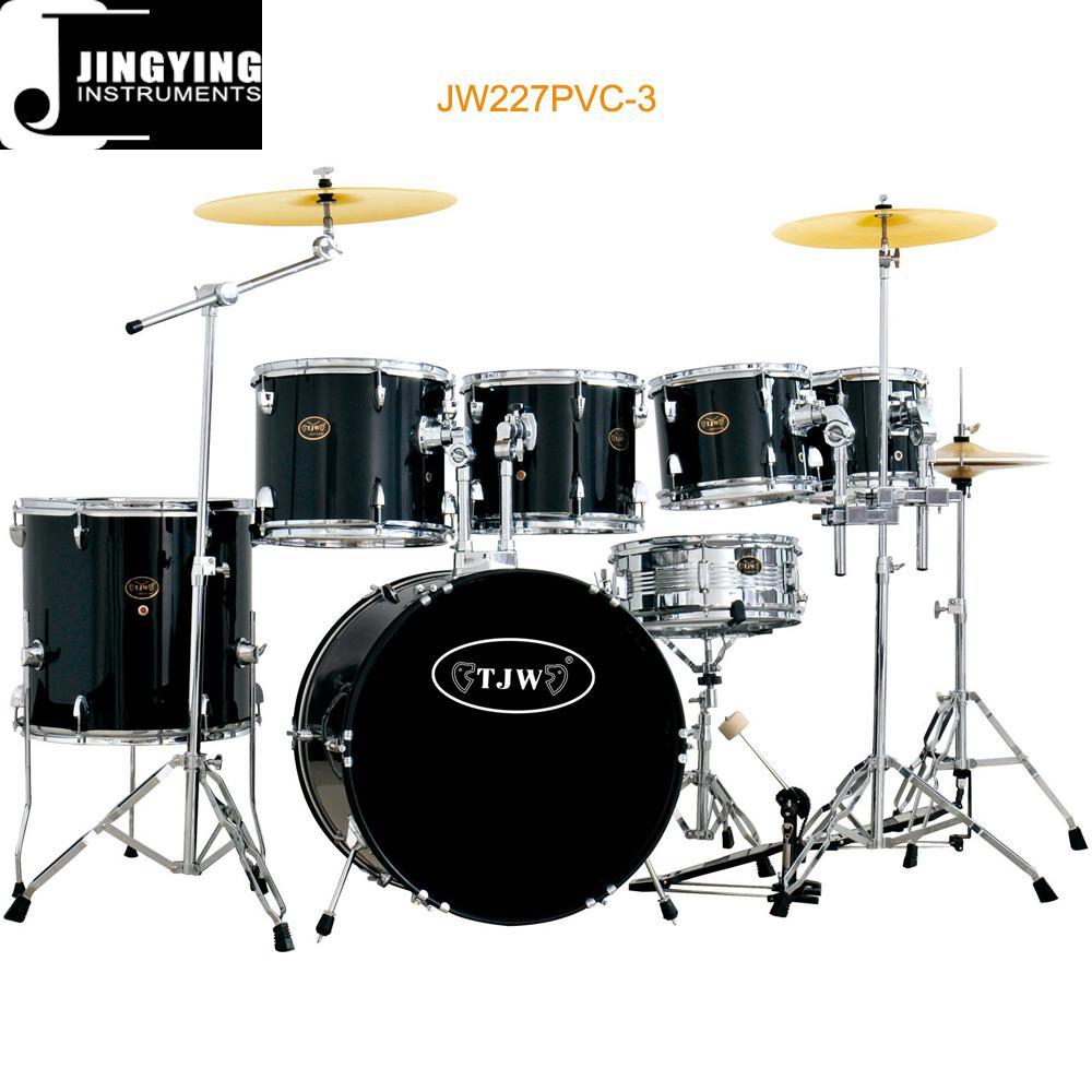 7pcs PVC Cover 9-ply Birch+Poplar Shell Drum Kits 5
