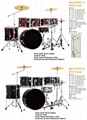 7pcs PVC Cover 9-ply Birch+Poplar Shell Drum Kits 6
