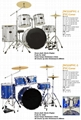 5pcs PVC Cover Drum Sets/Drum Kits 7