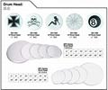 SLK Clear/SPX Semi-Clear/SPC Porcelain White/SRK Black Drum Heads 7