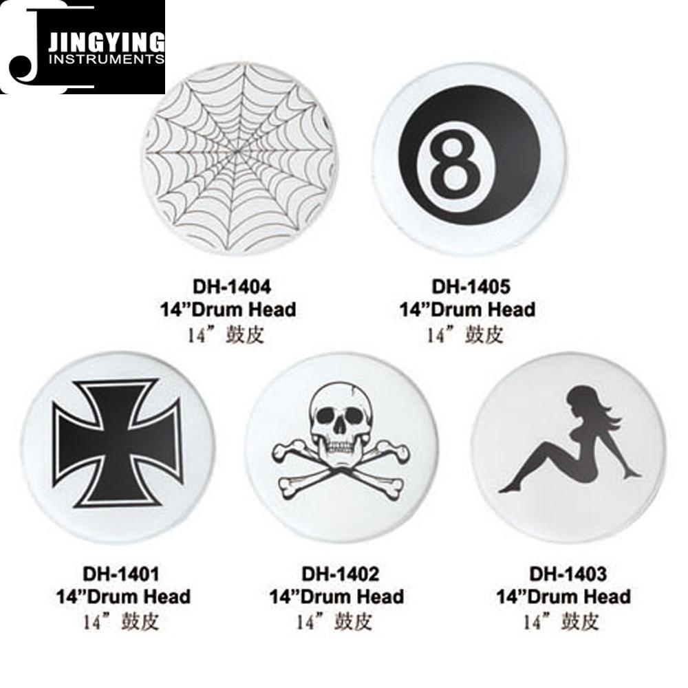 "14"" Custom Graphic Drum Heads, Colored Drum Heads 7"