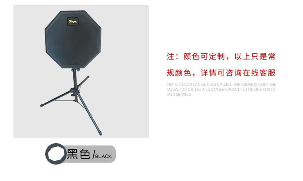 Wholesale 8-inch Rubber Practice Drum/Silent Drum 10