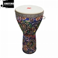 8/9/10 inch African Style Cloth Colorful ABS Djembe Drums