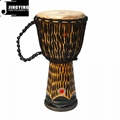 11 Inch African Hardwood Carvings Polished African Drums